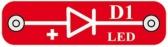 D1 (6SCD1) LED Dioda, svítící červeně