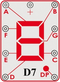 D7 (6SCD7) Sedmisegmentový LED displej