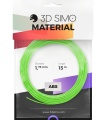 3DSimo Filament ABS - modrá, zelená, žlutá 15m