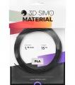 3DSimo Filament PLA - černá, zlatá, šedá 15m