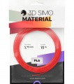 3DSimo Filament PLA II - red, purple, green 15m
