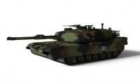 R/C Tank US MBT M1A1 Abrams NATO 1/72