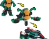 Figurka nebo auto? Želvy ninja nabízí oboje v jednom! Z 15cm vysoké figurky se šmahem stane bojové auto!