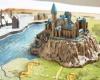 4D Puzzle Kouzelný svět Harryho Pottera - včetně Bradavic, Hagridovo chýše a dalších budov